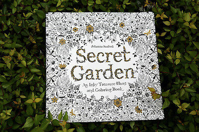Secret Garden: An Inky Treasure Hunt and Coloring Book by Johanna Basford (Pbk)