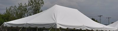 TOP ONLY 20 x 30 White Economy Pole Tent Party Tents Awning Wedding Event Canopy
