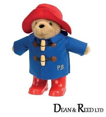 22 cm PADDINGTON BEAR WITH RED HAT AND RED WELLINGTON BOOTS SOFT TOY