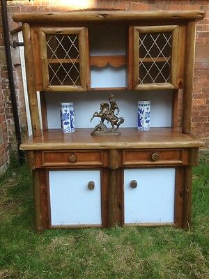 Antique Primitive Large Swiss Country Chic Farmhouse Dresser Cupboard/Drawers