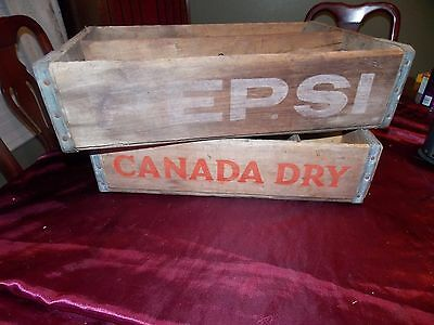 2 Vintage Soda Crates 1 Canada Dry and 1 Pepsi Crate!