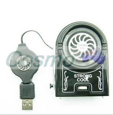 Mini Laptop Cooling Vacuum Air Extracting Cooler Fan Notebook USB Fan