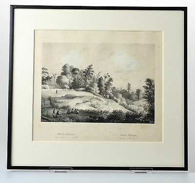 Antique Print BATU MEJA MALUKU ISLANDS AMBON INDONESIA Buffa Amsterdam 1844