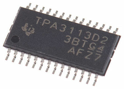 TEXAS INSTRUMENTS - TPA3113D2PWP, Dual Audio Amplifier IC Class-D stereo