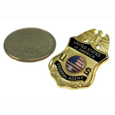 Universal U S Federal Agent Police Mini Badge Lapel Pin Tie Tac