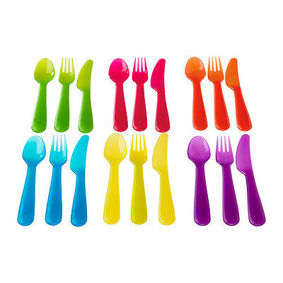IKEA 18 Piece Plastic Cutlery Set Knife Fork Spoon for Picnic beach Kids Baby