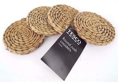 New 10cm Round Rush Coasters (Wicker) 4 or 6 Pack
