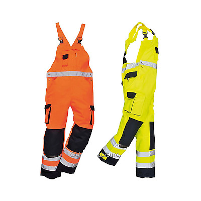 Hi-Vis Bib & Brace Texo high visibility safety protective work trousers TX52
