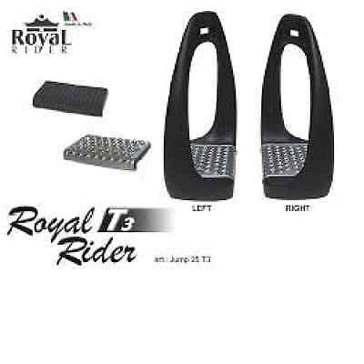 Royal Rider T3 Angled Stirrups Lightweight BLACK & Worldwide Shipping