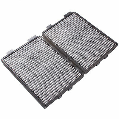 2X Cabin Air Filter Dual Carbon Elements Pair For BMW E39 5 SERIES 525I 528I 530