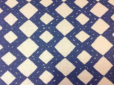 Quadrille Alan Campbell Diamond Fabric- Handstitch/New Navy- 2.90 yds (AC920-08)