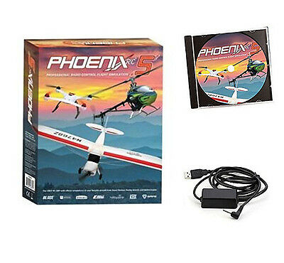 Phoenix R/C Pro Flight Simulator Sim V5.0 RTM5000 : Spektrum DX6 DX6I