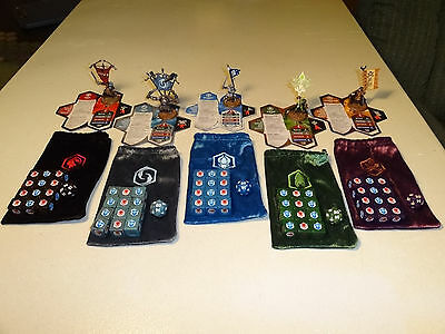 Heroscape - Crest of The Valkyrie - Complete Set 5 Flag Bearers