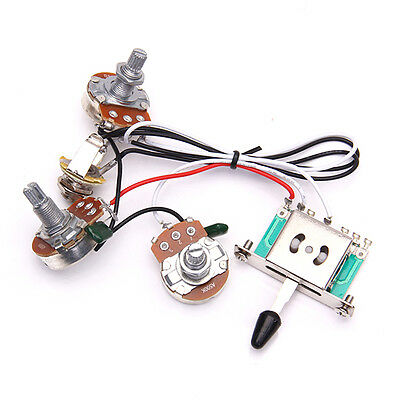 guitar wiring harness 1v2t 1 jack 5 way switch set for strat pro guitar wiring harness 1v2t 1jack 3 500k pots 5way switch for fender strat
