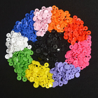 150 Sets Size 16 T3 KAM Resin Plastic Snaps Poppers Snap Fasteners Dummp Clips