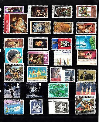 CHRISTMAS  Thematic Stamp Collection MINT USED  Ref:TH270