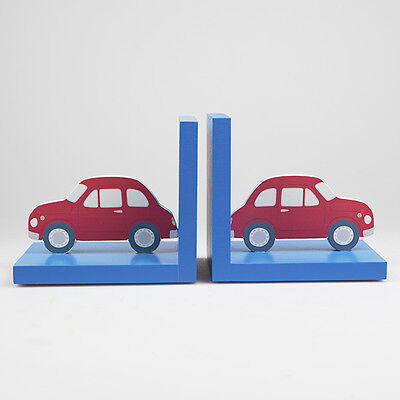 Gorgeous Sass & Belle Red And Blue Car Book Ends Boys/childrens