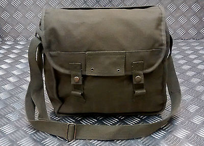 Military Style Canvas / Haversack / Satchel / Festival Shoulder Bag Green - NEW