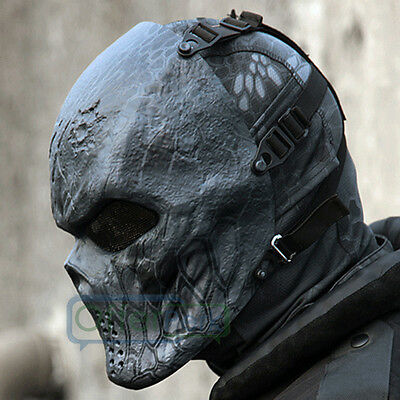 Full Face Masks Cosplay Hunting Costume Actical Military Halloween Black God