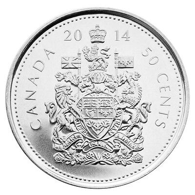2014 Canada 50C Fifty Cents half dollar - BU from a new Mint roll