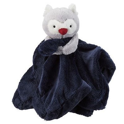 New Carter's Snuggle Buddy Wise Owl Navy Blue Security Blanket Soft Cute NWT