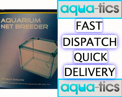 PPI Aquarium Breeder Breeding Trap Net For Fry Baby Small Fish Isolation TankUK