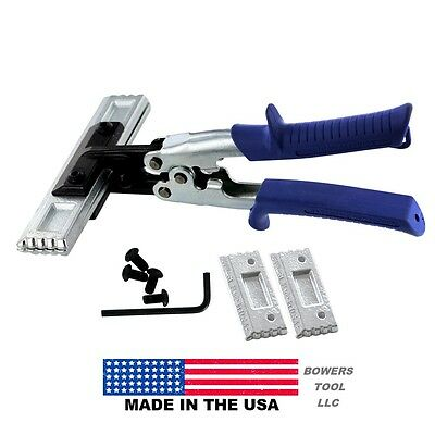 Midwest Snips Stright Interchangable Blade Hand Seamer Tongs 3 & 6in USA Tool