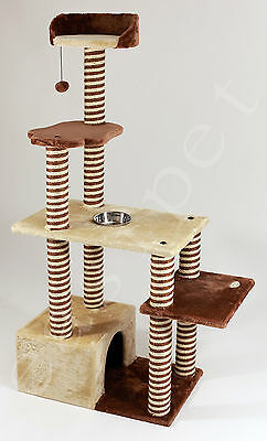 Cat Tree Scratcher Scratch Post Kitten Pet Play Scratching Activity Centre 468