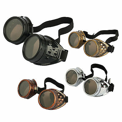 Vintage Goth Victorian Steampunk Goggles Glasses Welding Punk Gothic Cosplay