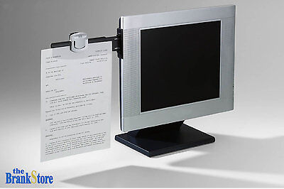 Paper Clip Monitor Document Holder Office Clipboard File Copy Stand School Board