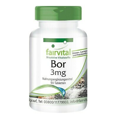 Bor 3mg 90 Tabletten, Boron, Reinsubstanz made in Germany, vegan- fairvital