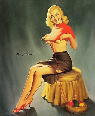 Vintage Pin Up Girls Retro Burlesque Prints & Posters A1-A4 Sizes