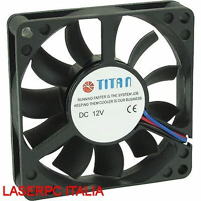 Ventola Titan TFD-8015M12Z 80 x 80 x 15 mm 3 Pin 8x8 Dissipatore 80MM CASE CPU