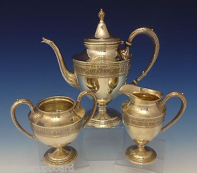 Wedgwood by International Sterling Silver Tea Set 3pc #C311 (#0716)