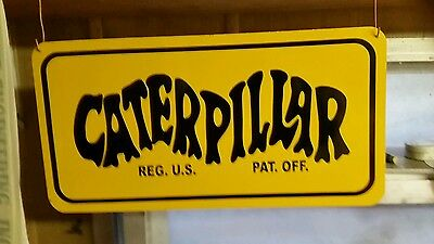 CATERPILLAR OLD LOGO Equipment METAL SIGN 20x10 INCH