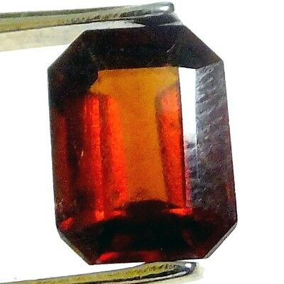 NATURAL AWESOME HESSONITE GARNET LOOSE GEMSTONE (9.5 x 7.1 mm) EMERALD-CUT