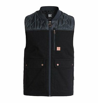 New 2016 Mens DC Draft Vest Medium Anthracite