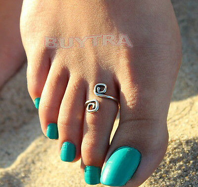 Attractive Women Charm Simple Toe Ring Adjustable Foot Tide Beach Jewelry JRAU