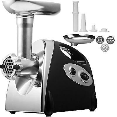 2000W New Electric Mincer & Sausage Grind Filler Meat Grinder In Black