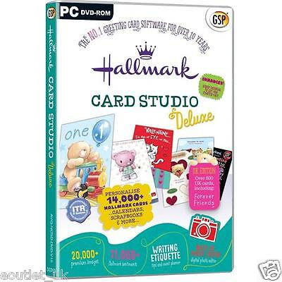 Hallmark Card Studio Deluxe PC Software - Create Your Own Greeting Cards Design