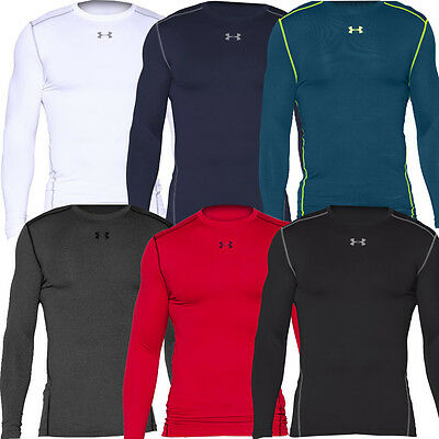 Under Armour 2016 ColdGear Compression Crew LS Mens Shirt Thermal BaseLayer