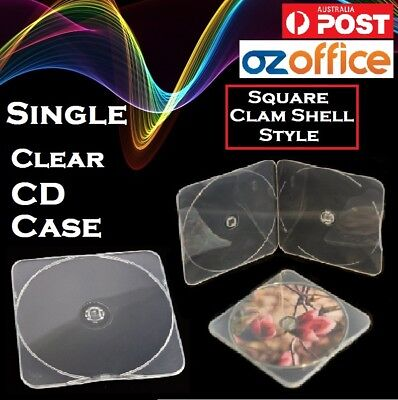 Premium CB11 Single CD Case Clam Shell Case Single Clear CD Slim Case DURASLIM