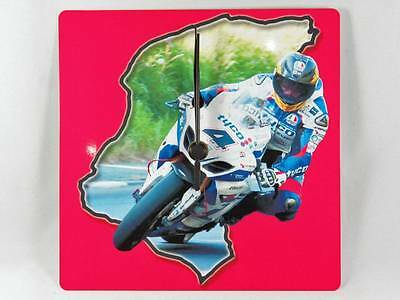 Guy Martin and 'TT Course Outline' Photo Wall Clock