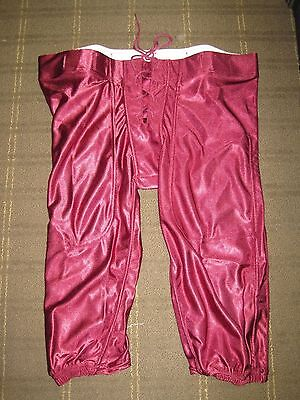 Lot of 50 New Riddell Youth Dazzle Slotted Football Pants - Cardinal