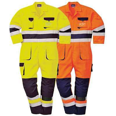 Texo Hi-Vis Coverall Overall Portwest TX55 Knee Pad Pockets Safety Protective