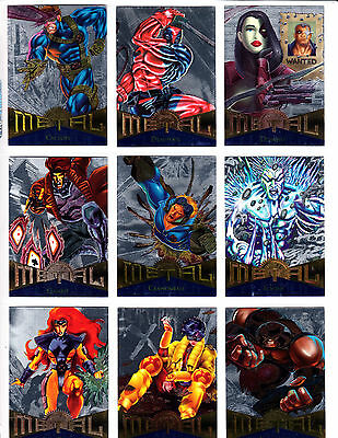 1995 Marvel Metal 95 SILVER FLASHER Parallel Card SINGLES - Shipping Discounts