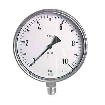 """Stainless Steel Pressure Gauge 0/60 Bar Chemistry For Completion 6.29"""""""