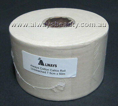 100M or 50M Calico Roll Wax Strip 100% Cotton Roll Waxing Strips Hair Removal