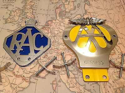 CLASSIC AA CAR BADGE 1945-67 Limited Edition Badge COLLECTABLE and RAC BADGE