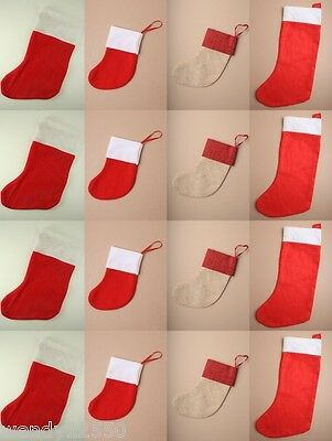 CHRISTMAS XMAS STOCKINGS WHOLESALE 1 - 50 DOZEN, PRESENT, GIFT; 38cm / 16cm